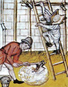 06 - Maçon et oiseau miniature XVe siècleA