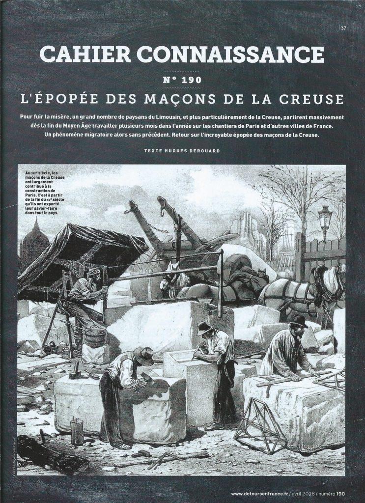 Détours en France N° 190 page cahier connaissance