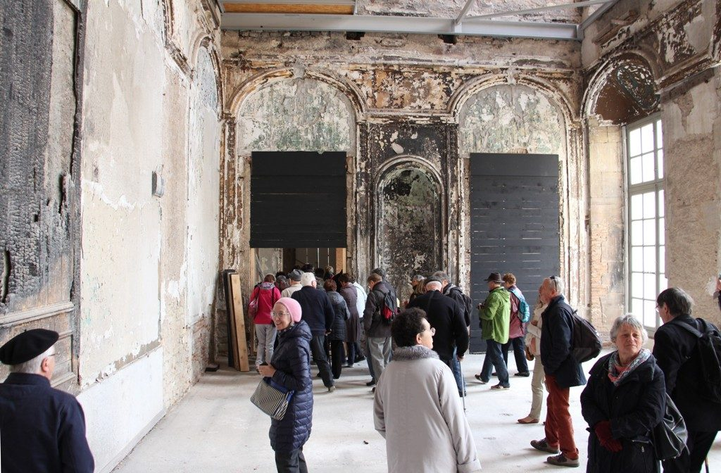 Lunéville château zone attente restauration W