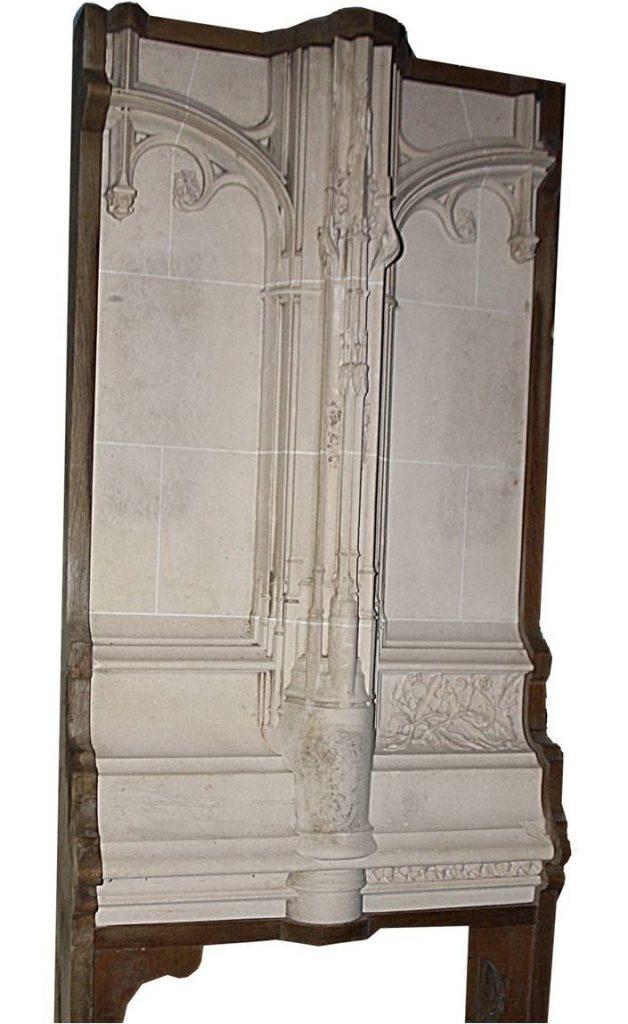 a0_ maquette en stuc-pierre d'un pilastre